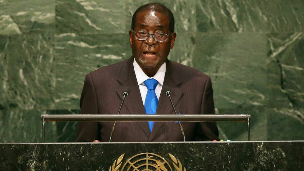 Mugabe tells UN General Assembly: 'We are not gays!' (ca. 2015)